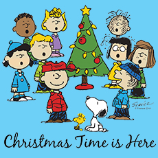 Peanuts Gang Christmas Time is Here