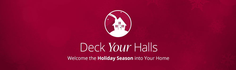 Shop holiday home decorations banner
