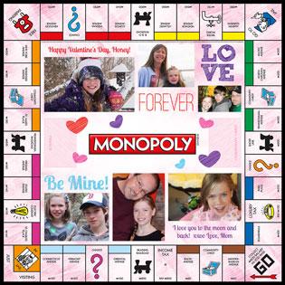 Custom Valentine Hearts MONOPOLY Game