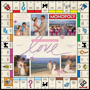Custom Valentine Scrapbook MONOPOLY Game