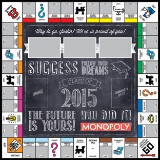 Custom Chalkboard Class of 2015 2 Monopoly