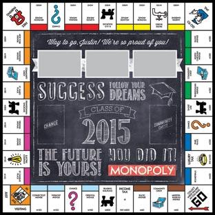 Chalkboard Class of 2015 Monopoly