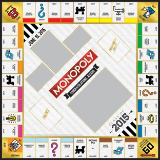 Class of 2015 Gold Monopoly