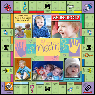 Mom & Handprints Monopoly