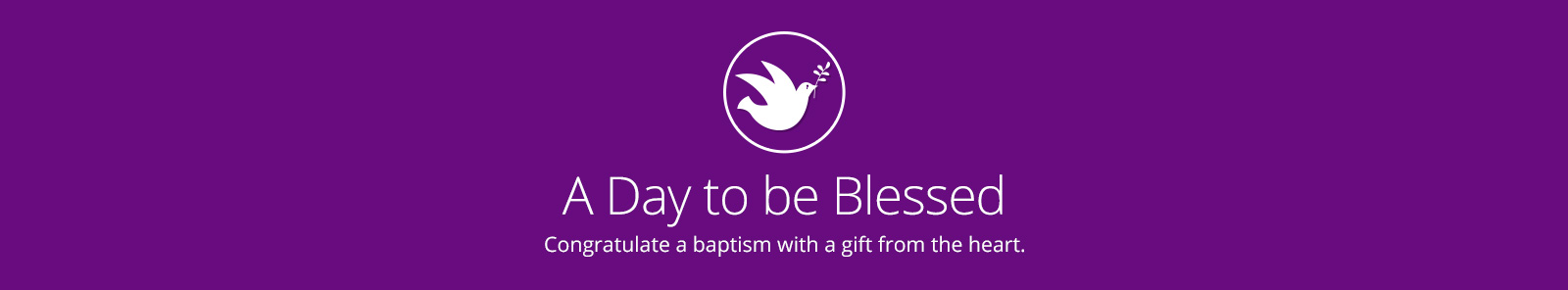Baptism Gifts Banner