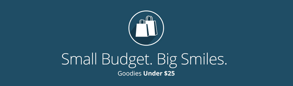 Shop gifts under $25 for small budgets banner