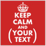 Personalized Keep Calm T-shirts