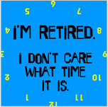 Retired Clocks Gifts