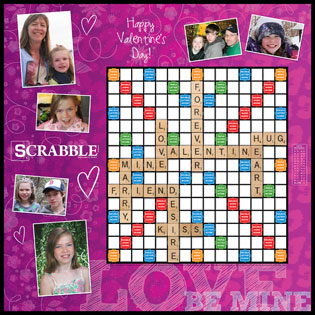 Custom Valentine Be Mine Scrabble Game
