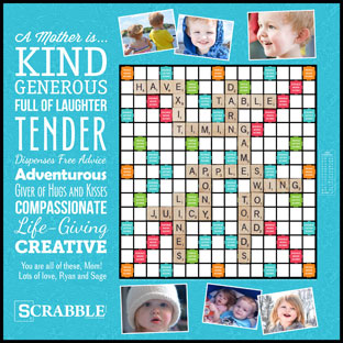 Custom A Mother Is… Scrabble Game