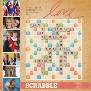 Custom Antique Scrabble Game