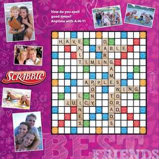 Custom Best Friends Scrabble Game