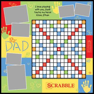 Custom Dad & Handprints Scrabble Game
