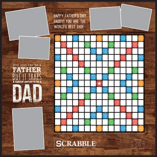 Custom Happy Father's Day Scrabble Game