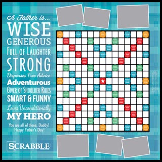 Custom A Father is... Scrabble Game