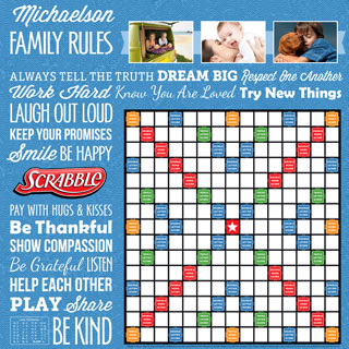 Custom Family Rules Scrabble Game