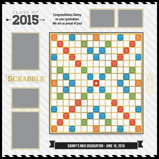 Custom Class of 2015 Scrabble Game