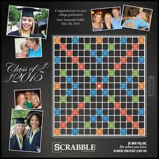 Custom Script Class of 2015 Scrabble Game