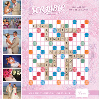 Custom Love Pink Scrabble Game