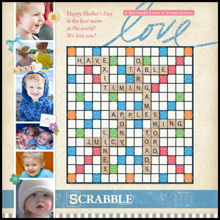 Custom A Mother's Love Scrabble Game
