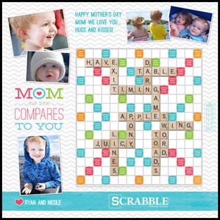 Custom No One Compares to Mom Scrabble Game
