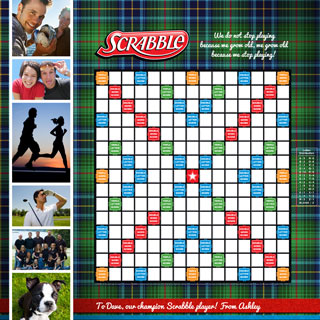 Custom Mad for Plaid Scrabble Game