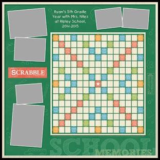 Custom School Memories Scrabble Game
