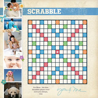 Custom Scrapbook Scrabble Game