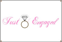 Just Engaged Diamond Ring banner