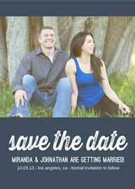 Mint Chic Photo Save the Date Invitation
