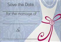 Wedding Dress Save the Date Rectangle Magnet