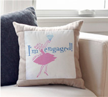 I'm Engaged Throw Pillow