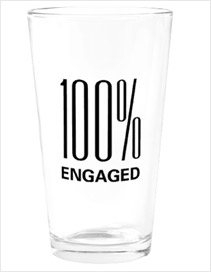 Engaged Pint Glass