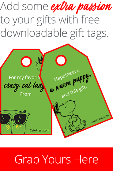 CafePress Holiday Gift Tags