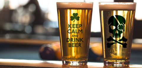 ST PATRICK'S DAY PINT GLASSES