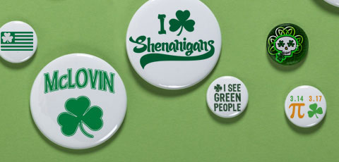 ST PATRICK'S DAY BUTTONS