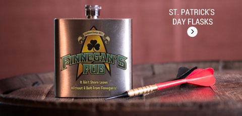 St Patricks Day Flasks