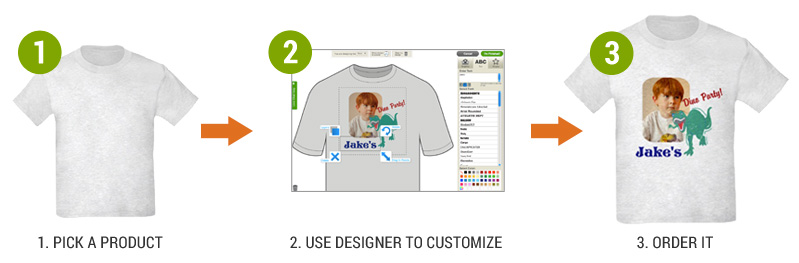 Custom gifts design your own custom clothes customized for Where can i create my own shirt