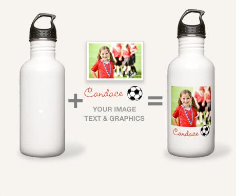 5101c31ed Custom Stainless Steel Water Bottles - CafePress