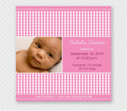 Pink Precious Gingham Pattern