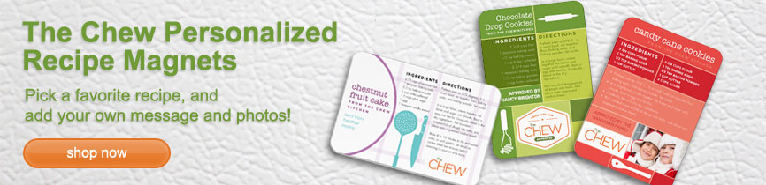 The Chew Personalized Recipe Magnets