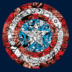 Captain America Shield Collage