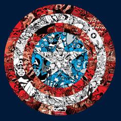 Captain America Shield Collage