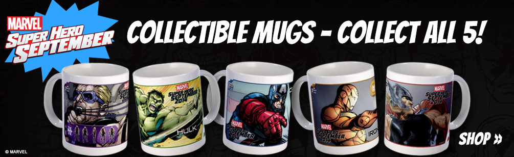 September Super Hero Mugs