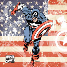 Patriotic Captain America Square