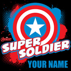 Avengers Assemble Captain America Personalized