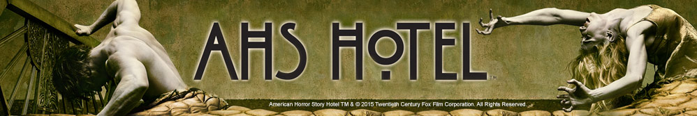 Image of American Horror Story Hotel characters and logo