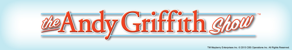 Light blue background featuring The Andy Griffith Show logo.
