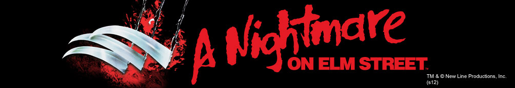 A Nightmare on Elm Street movie logo with Freddy's Claws ripping through
