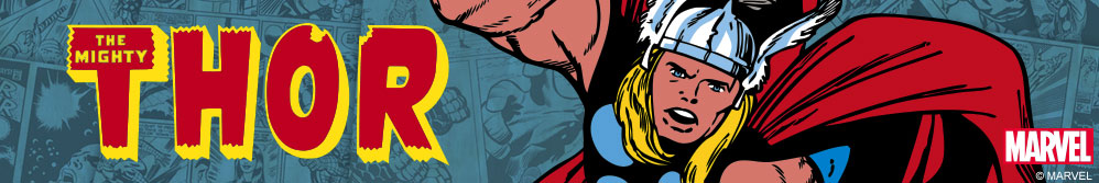 Image of Thor from Marvel comics and Thor logo